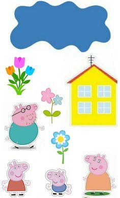 Peppa Pig Birthday Invitations, Peppa Pig Birthday Cake, 1st Birthday Party For Girls, Fiestas Peppa Pig, Cumple Peppa Pig, Picnic Recipes, Picnic Ideas, Picnic Foods, Moldes Para Baby Shower