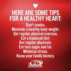 Keep your heart healthy!