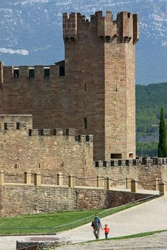 Castles of Spain - Castillo de Javier. Navarra, Spain I'm planning a tour of castles all over the worldddddd. Castle Ruins, Medieval Castle, Pamplona, Beautiful Castles, Beautiful Places, Palaces, Castle In The Sky, Basque Country, Fortification