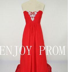 A-line Strapless Chiffon floor-Length Bridesmaid/Evening/Prom Dress$118.00