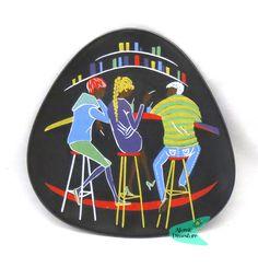 Ü-keramik plate TEENAGER serie decor by Ursula Schönhaber