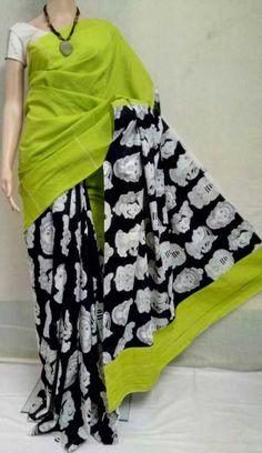 Khes gurjuri sarees with printed blouse Kalamkari Fabric, Woman Clothing, Printed Blouse, Yards, Clothes For Women, Prints, Fashion, Women's Clothes, Outerwear Women