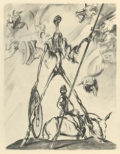 """Illustrations from international editions of """"Don Quixote"""" published in the quixotic sixties. Pictured: Fernand Van Hamme, 1965."""