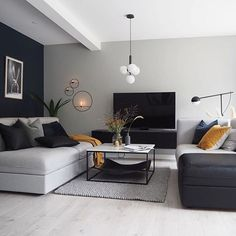 Modern Home Decor Living Room Living Room Paint, Living Room Grey, Home Decor Bedroom, Interior Design Living Room, Living Room Designs, Living Room Decor, Living Room Ideas, Pinterest Room Decor, Room Colors