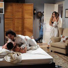 Terezinha e Robério vão para a cama! Veja as fotos da cena! #DonaXepa http://r7.com/1hau