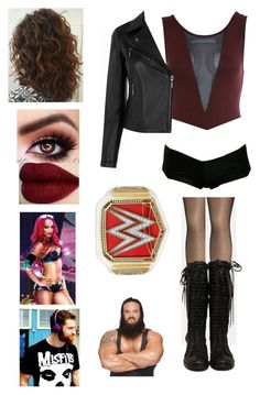Match vs Sasha Banks attacked by Braun then Saved by Sami by rosemlove on Polyvore featuring Oasis, Miss Selfridge, Avenue, WWE and Braun