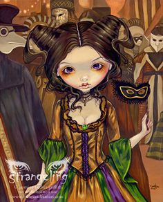 Art Print - At the Masquerade Ball by Jasmine Becket-Griffithhttp://www.fairiesandfantasy.com/store/Jasmine-Becket-Griffith-Strangeling/