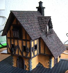 cianty's Tabletop Wargames Blog: WIP Medieval Inn