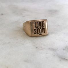 Live Slow ring - a collaboration piece with Makers Workshop