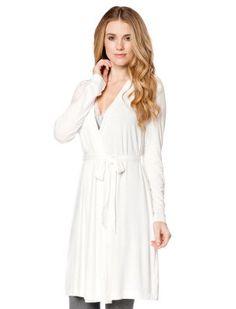 $34 - (extra 30% off) - Nursing Robe     nursing robe     long sleeve     rayon/ spandex     jersey knit     machine washable     imported
