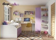 Dormitorio juvenil dormitorios juveniles pinterest for Muebles hermida
