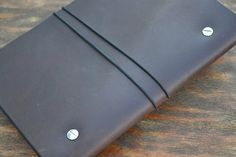 Notebook traveller with a leather cover leather by sergklim