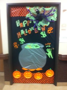Crafty halloween office contest door! Hope we win!!!