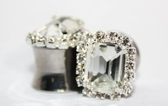 Crystal Wedding Plugs 0 00 Gauge 8mm 10mm on Etsy, $40.00