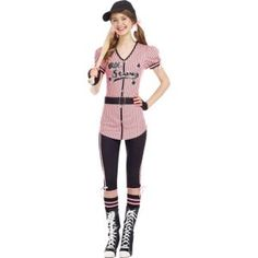 Teen Girls All Star Sweetie Costume with Cap - Halloween City Cute Halloween Costumes For Teens, Cute Costumes, Halloween Ideas, Costume Ideas, Halloween City, Holiday Costumes, Group Costumes, Adult Halloween, Halloween Stuff