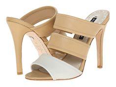Alice + Olivia Graciella White/Tan - Zappos Couture