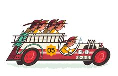 thesillyrally: Racers:The Quincy Quints Vehicle:Big Red Silly Rally Racers #5!