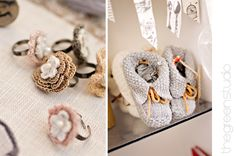 Beautiful crochet rings and knitted booties photographed at KAMERS Bloemfontein by @Ria Green via @The Pretty Blog Crochet Rings, Crochet Jewellery, Knitted Booties, Beautiful Crochet, Booty, Creative, Pretty, Green, Handmade