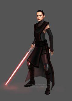 Rey dark side by pandamune