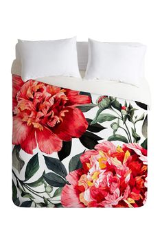 Deny Designs - Marta Barragan Camarasa Red Flowers King Duvet Cover is now 33% off. Free Shipping on orders over $100.