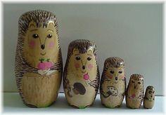 A hedgehog family