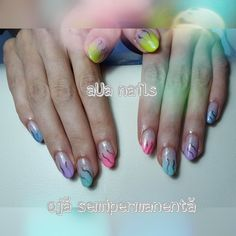 Oja semipermanenta multicolor Nails, Beauty, Finger Nails, Beleza, Ongles, Nail, Cosmetology, Manicures