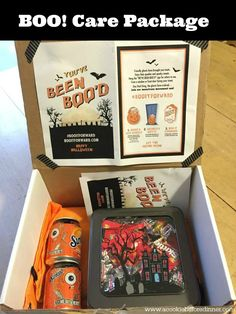 Boo It Forward by sending a Halloween Care Package. This is a great way to send a care package for a college student! Boo someone this year with a Halloween Care Package College Student Gifts, College Students, College Dorms, College Hacks, College Fun, Halloween Boo, Halloween Treats, Halloween Supplies, Halloween Queen