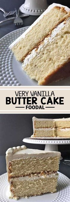 Want to learn how to make a basic vanilla cake? If you're looking for a dessert that is fluffy, buttery, and packed with delicious flavor, you'll love our recipe. Whether you're making round layers or cupcakes, decorating it with vanilla or chocolate buttercream, you will definitely use this basic batter over and over again for so many of your desserts. Get the recipe now on Foodal. #Moistvanillacake
