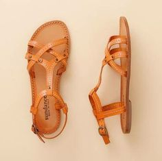#orange sandals - sundance