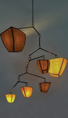 Z-A-B-C-D-E MOBILE CHANDELIER by ANDREA CLAIRE. Could make this with opaque tissue paper in cool colors to let light glow thru.