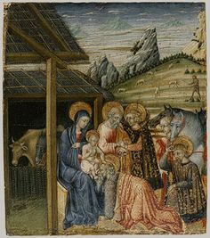 The Adoration of the Magi, ca. 1400-1482, tempera and gold on wood panel, Giovanna de Paolo (Giovanna di Paolo di Grazia), Sienese Italy