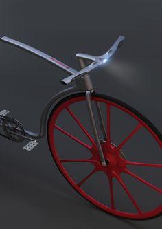 Concept Porsche bicycle by Kristian Terziev, via Behance
