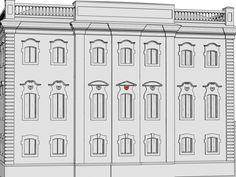 Раковина – декоративный мотив в виде раковины моллюска, обычно в стилизованном виде. В европейской архитектуре характерен для эпохи Ренессанса, в русской архитектуре применялся главным образом в зданиях барокко и нарышкинского стиля. В этом здании раковины применены для декорирования наличников; вместо них могли использоваться другие лепные детали: картуши, херувимы и др.