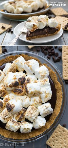 Chocolate Ganache S'mores Pie