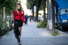 Street Style Semana de la moda de París primavera-verano 2016.