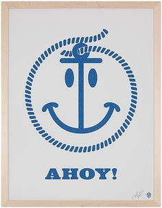 """Ahoy"" by CD Ryan, available at Serena & Lily. #serenaandlily"