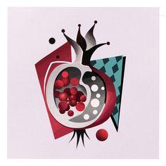 "Marta Kudu on Instagram: ""Granat/ #pomegranate 🍎🍓🍊 Love to make it as a tattoo. 🌝AMSTERDAM @salonserpenttattoo - 07.02 - last available date ❤️Booking via form (link…"""