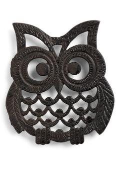 I love owl stuff... i want this  Vintage Hoots Hungry Trivet