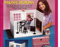 Fashion Doll Carry and Play Music Room Barbie Plastic Canvas Pattern The Needlecraft shop 933729