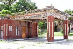 Old Gulf Service Station.