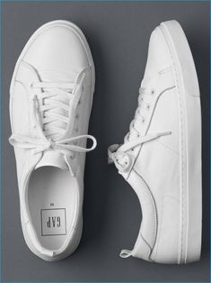 size 40 549a3 bc828 Gap White Leather Sneakers Tenis Da Moda, Zapatos Blancos, Zapatillas  Blancas, Zapatillas Deportivas
