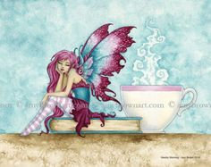 Fairy Art Artist Amy Brown: The Official Online Gallery. Fantasy Art, Faery Art, Dragons, and Magical Things Await. Fantasy Kunst, Fantasy Art, Elves Fantasy, Brown Canvas Art, Brown Art, Elfen Tattoo, Amy Brown Fairies, Dark Fairies, Dragons