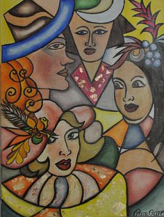 four sisters/oil on canvas