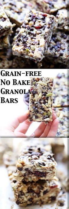 Grain Free No-Bake Granola Bars: chewy, soft, rich, and nutrient dense ...
