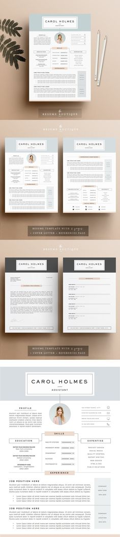 Resume Template PSD - A4 Resume / CV Design Templates Pinterest - resume 5 pages