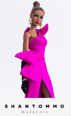 Agnes ravishing in Shantommo Fashion Royalty Dolls, Fashion Dolls, Fashion Outfits, Burlesque, Diva Dolls, Art Dolls, Hot Pink Dresses, Picture Outfits, Black Barbie
