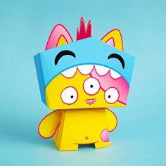 Image of Kazu - cute paper toy
