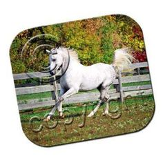 White Horse Running Mousepad