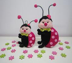 ♥♥♥ Meninas joaninhas... by sweetfelt  ideias em feltro