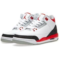 Nike Trainers Nike Air Jordan III Retro (GS) ($150) ❤ liked on Polyvore featuring mens, men's shoes, men's sneakers, shoes, sneakers y jordans